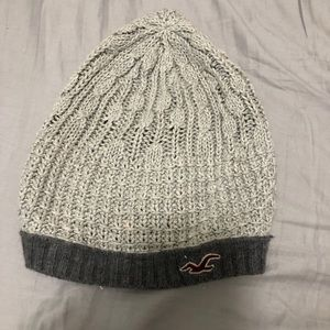 Women's Grey & White Hollister Beenie
